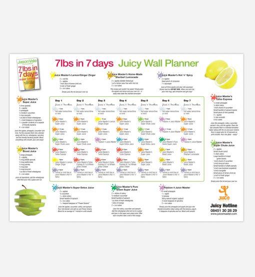 7 day super juice detox diet wallplanner