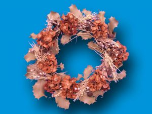Dried wreath for decorations
