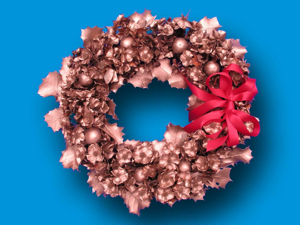 Dried Wreath, Gold for decorations